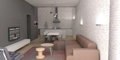 Interieur woonhuis met circulatiezone